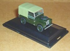 """OXFORD DIECAST LAND ROVER SERIES 1 88"""" CANVAS BRONZE GREEN 1:76 SCALE MODEL CAR"""