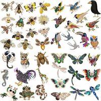 Fashion Crystal Pearl Rhinestone Brooch Pin Women Men Animal Plant Gold Jewelry