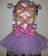 Small Handmade Disney's Rapunzel Inspired Pet Dog Dress