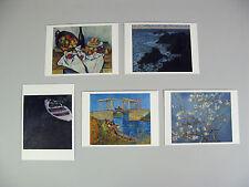 Claude Monet, Vincent van Gogh & Paul Cezanne Postcards ( 5 )