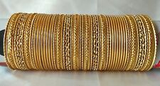 Indian Bollywood Ethnic 48pcs Golden Colored Bridal Bangles Set Jewelry 2.6.