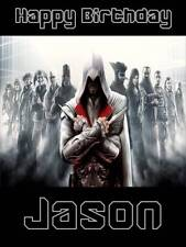 Personalised Assassin's Creed Birthday Greeting Card & Envelope 623