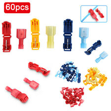 60x Insulated Electrical Wire Quick Splice Connectors&Male Spade Crimp Terminal