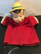 "Vintage 1940's Pinocchio Hand Puppet W/ Wood Head 9 1/2"" Tall By Walt Disney 🎈"