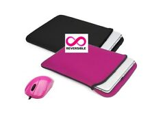 "100 x Targus Reversible Laptop Sleeves for 15"" - 17"" Laptops and Pink USB Mouse"