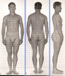 THICK SLIPPERY BRUTE~ 1940s 5x7 NAVY ID PHOTO NEAR NUDE JOCK SAILOR MAN #222 gay