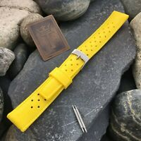 18mm Skin Diver nos 1960s Vintage Watch Band Yellow Dive Watch Diver Strap