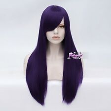 Women's Long Straight 70CM Dark Purple Fashion Party Cosplay Wig + Wig Cap