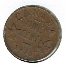 1936 Canadian Circulated George V One Small Cent coin!