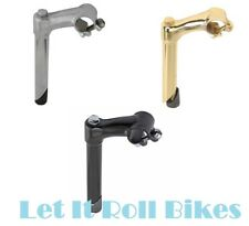 NEW BICYCLE LOWRIDER STEM 22.2MM or 21.1MM chrome gold black CRUISER BIKES !
