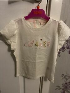 Bnwt New Ted Baker Embroided Logo Floral Top Age 4-5 Years