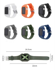 One Piece Protective Straps Case Cover for Apple Watch SE and iWatch 6 5 4 3 2 1