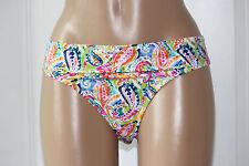 NEW Ralph Lauren LR64C93 Coral Multi Paisley Hipster Swim Bikini Bottom size 10