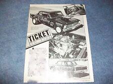 "1966 Nova Sedan Drag Car Vintage Article ""Ticket to Ride"" Chevy II"