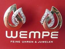 WEMPE GOLD-BRILLIANT EARRINGS 2,2cm big 750/Gold