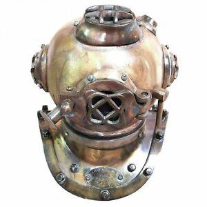Mini Diving Divers Helmet Iron & Steel Antique Maritime U.S NAVY Collectible