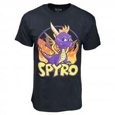Mens Spyro The Dragon licensed Retro Fire T-Shirt Gaming New UK Seller Genuine