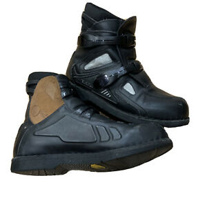 Icon Black Motorcycle Street Riding Boots Mens Sz 12