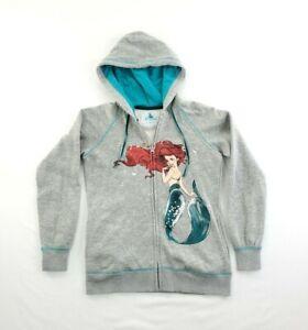 Disney Art of Ariel Hoodie Sweatshirt Womens Sweater Zip Up Hand Painted sz XS