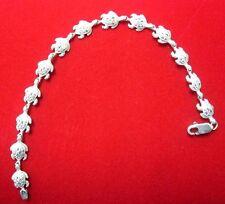 14k White Gold Turtle link Bracelet