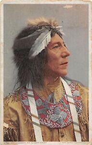 G50/ Native American Indian Postcard c1910 Ojibwa Chief Ostossaway 9