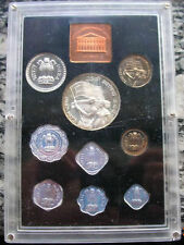 India 1972 Mint Box Proof Set of 9 Coins,Proof