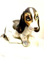 """CUTIE!!!! VTG BASSET HOUND Puppy HOMCO Porcelain MASTERPIECE 1983 Mexico 5.5""""H"""