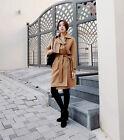 New Korean Fashion Women Long Wool Trench Coat Winter Cardigan Coat Outwear