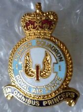 Badge- RAF 1 Fighter Squadron Royal Air Force Brooch Badge QC (Enamel*)