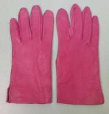 Women's Gloves Pink Kidskin Genuine Leather Antron Lining Sz 8