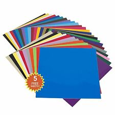 """35 Pack 12""""x12"""" Self Adhesive Vinyl Sheets Permanent for Cricut Silhouette Cameo"""