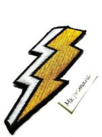 LIGHTNING PATCH THUNDER EMBROIDERED IRON SEW ON CLOTHES JEANS JACKET BADGE