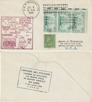 US 1948 FAM 34 FIRST FLIGHT FLOWN AIR MAIL COVER HOUSTON TEXAS TO GUAYAQUIL ECUA