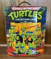 TMNT Ninja Turtles Vintage Action Figure Carrying Case w/ Handle 2 Trays 1988