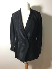 Topshop Satin Tuxedo Black Double Breasted Blazer Jacket  Size UK 8 BNWT