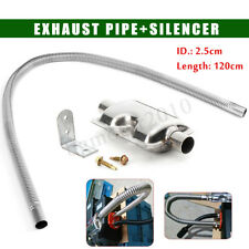 1.2M Stainless steel Exhaust Pipe +Silencer For Car Parking Air Diesel Heater US