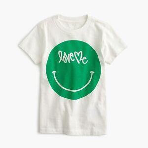 "J.crew Boys Curtis Kulig ""love Me"" Emoji T Shirt 4-5"