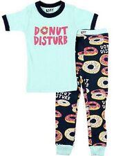 Lazy One Girls PJ Pajamas Sleepwear Donut Disturb Blue New SIZE 6