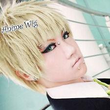 Anime DRAMAtical Murder DMMd Noiz Short Blonde Layered Hair Men Cosplay Wig