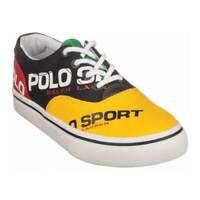 Polo Ralph Lauren Boys'   Thornton III Sneaker - Big Kid Navy/Yellow/Red/Green