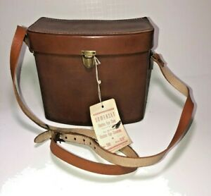 """New"" Old Vintage Somerset Leather Camera Bag Brown Case Electric Eye Glass"
