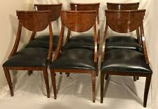 Set 6 Vintage Antique Art Deco Biedermeier Dining Room Chairs Pietro Costantini