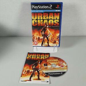 Urban Chaos Riot Response Playstation PS2 Action Video Game Manual PAL