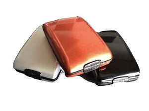 3 UK RFID Scan Protected Hard Case Security Wallet Credit Card Holder 3 Pack
