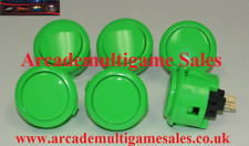 6 Green Sanwa OBSF30 arcade buttons