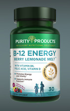 B-12 ENERGY BERRY LEMONADE MELT™ WITH SUPER FRUITS 30 TABLETS PURITY PRODUCTS
