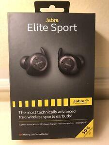 New Jabra Elite Sport Advanced Wireless Sports Earbuds Waterproof Black