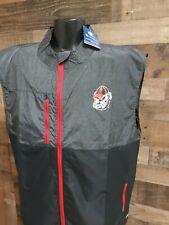 New listing Champion Extra Large XL Mens George Bulldog FullZip Gray Red Black Golf  Vest...
