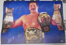 Dan Severn Signed 18x24 Event Used Banner Photo BAS Beckett COA WWE UFC Auto'd