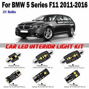 21pcs Super White Interior LED Light Kit For BMW 5 Series F11 Touring 2011-2016